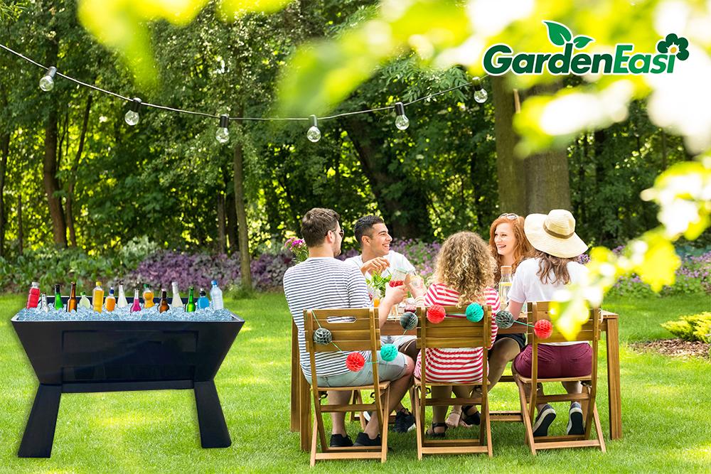 Garden Easi Planter Box Black Drinks Cooler Lawn e
