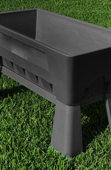 Garden Easi Planter Box Slate trial angle l e-Recovered 2