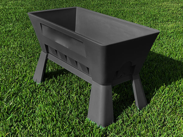 Garden Easi Planter Box Slate trial angle l e-Recovered 2